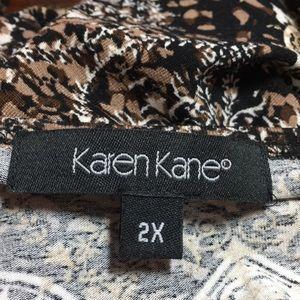 Karen Kane Tops - Karen Kane Brown and Black Printed top size 2X